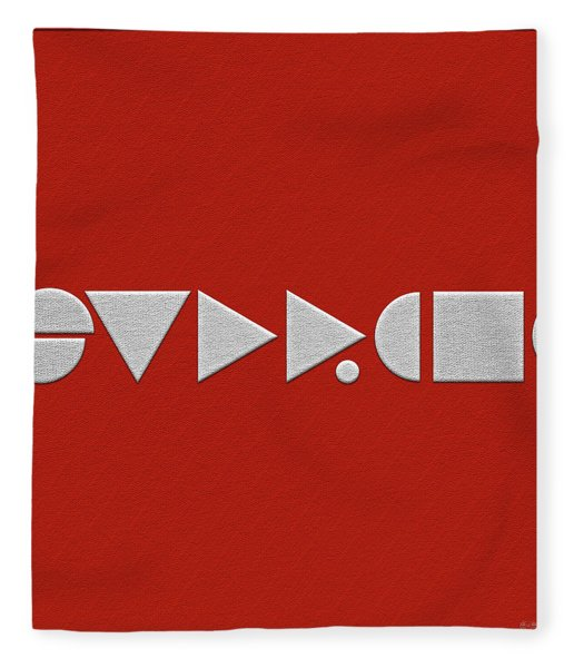 Supreme Being Embroidered Abstract - 2 Of 5 Fleece Blanket