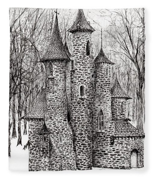 The Castle In The Forest Of Findhorn Fleece Blanket