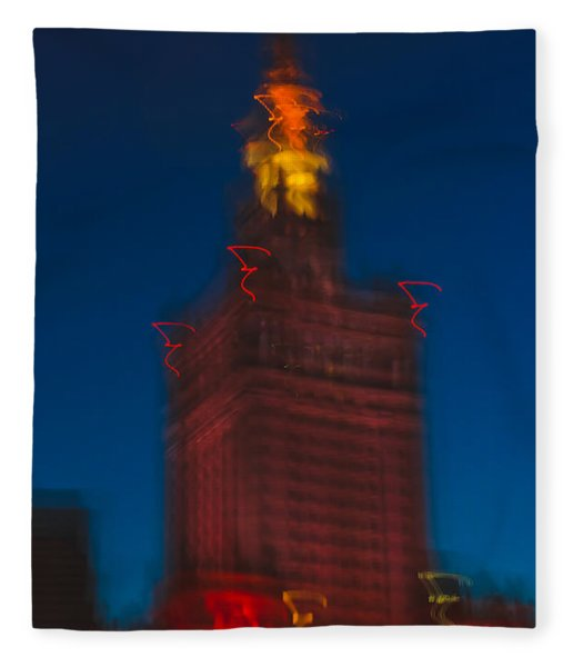The Palace Of Culture And Science Fleece Blanket