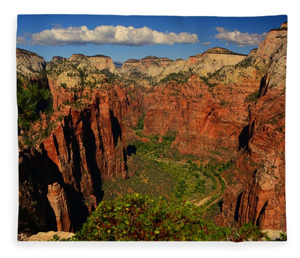Fleece Blanket featuring the photograph The Virgin River by Raymond Salani III