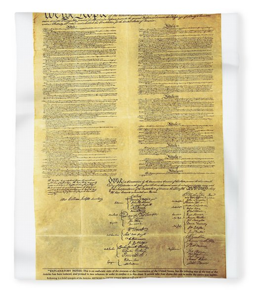U.s Constitution Fleece Blanket