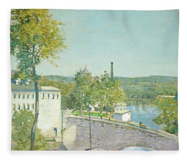 U.s. Thread Company Mills, Willimantic, Connecticut Fleece Blanket