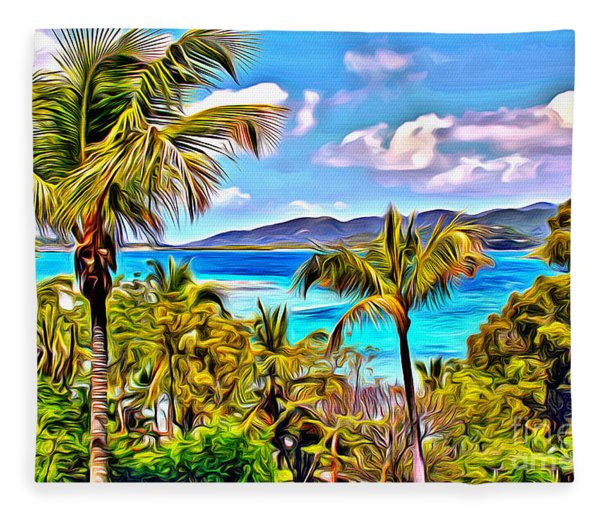 Virgin Islands Fleece Blanket