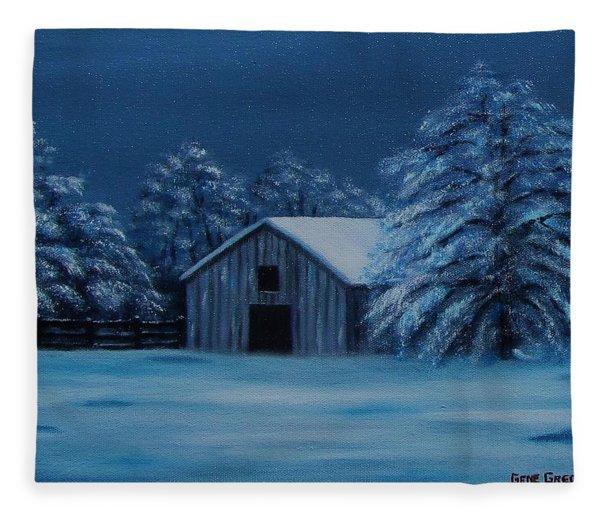 Windburg Barn 2 Fleece Blanket