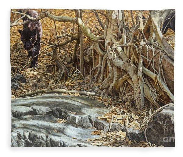 Fleece Blanket featuring the painting You Take The High Ridge by Alan M Hunt