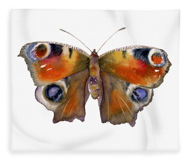 10 Peacock Butterfly Fleece Blanket