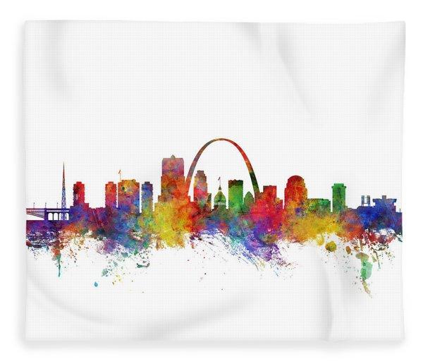 St Louis Missouri Skyline Fleece Blanket