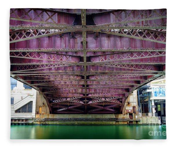 1136 Under The Dearborn Street Bridge Fleece Blanket
