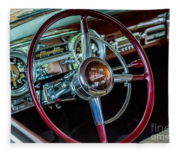 1951 Hudson Hornet Fleece Blanket