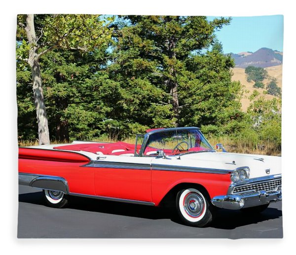1959 Ford Fairlane 500 Fleece Blanket