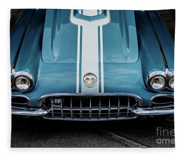 1960 Corvette Fleece Blanket