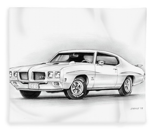 1970 Pontiac Gto Judge Fleece Blanket