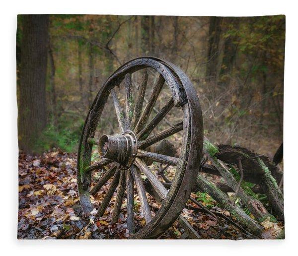 Abandoned Wagon Fleece Blanket