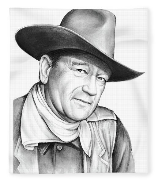 John Wayne Fleece Blanket