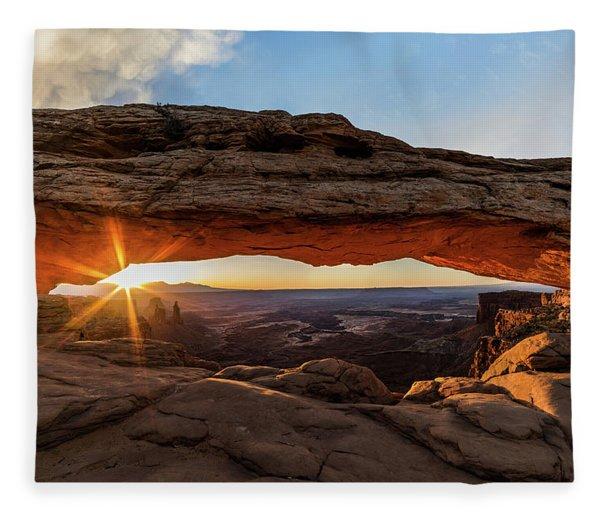 Mesa Arch Sunrise Fleece Blanket