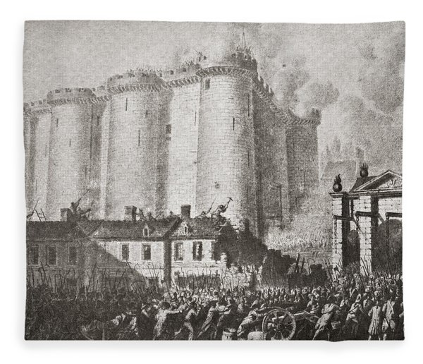 The Storming Of The Bastille, Paris Fleece Blanket