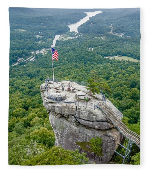 Fleece Blanket featuring the photograph Lake Lure And Chimney Rock Landscapes by Alex Grichenko