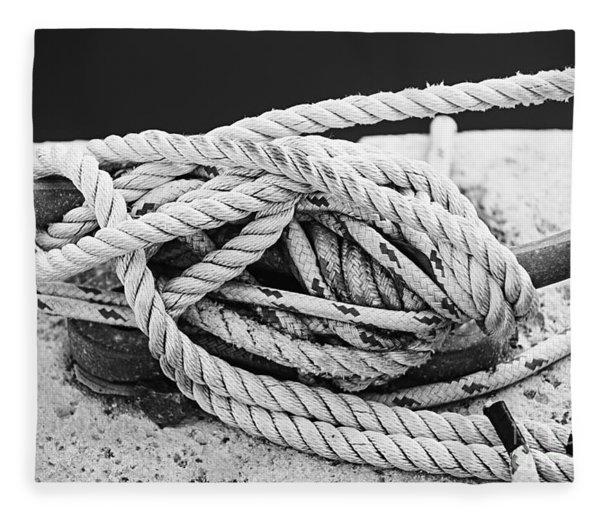 Ropes On Cleat Fleece Blanket