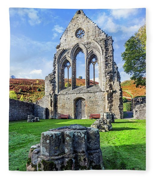 Valle Crucis Abbey Fleece Blanket