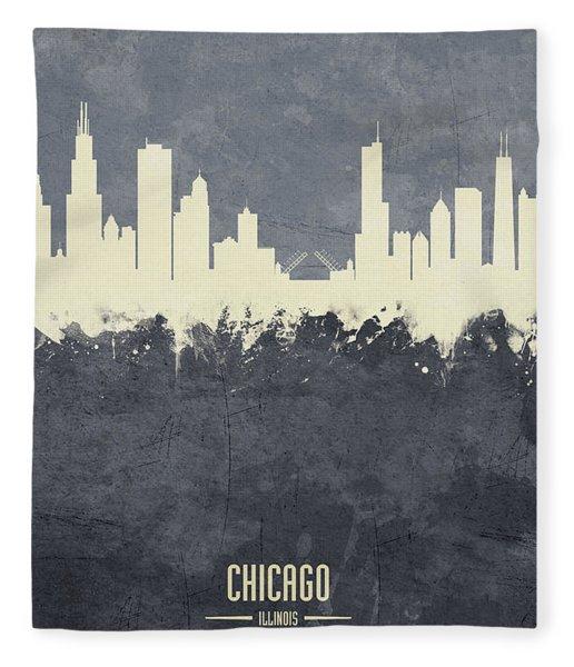 Chicago Illinois Skyline Fleece Blanket