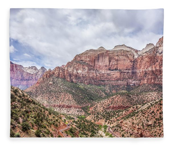 Fleece Blanket featuring the photograph Zion Canyon National Park Utah by Alex Grichenko