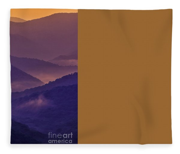 Allegheny Mountain Sunrise Two Fleece Blanket