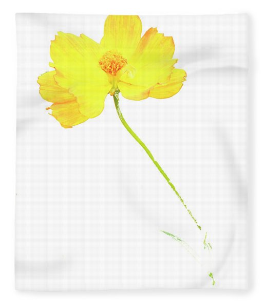 Cosmos Flower Fleece Blanket