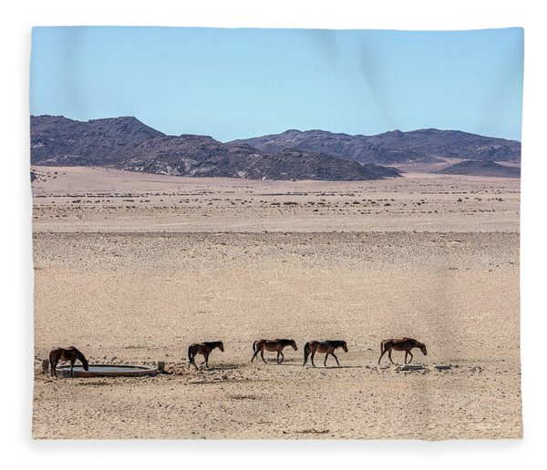 Aus - Namibia Fleece Blanket