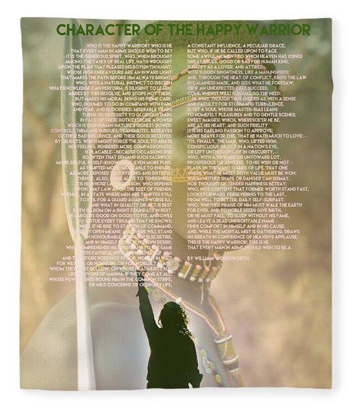 Character Of The Happy Warrior  By William Wordsworth Fleece Blanket