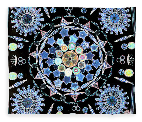 Diatoms Fleece Blanket