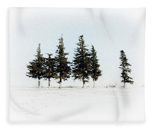 6 Trees Fleece Blanket