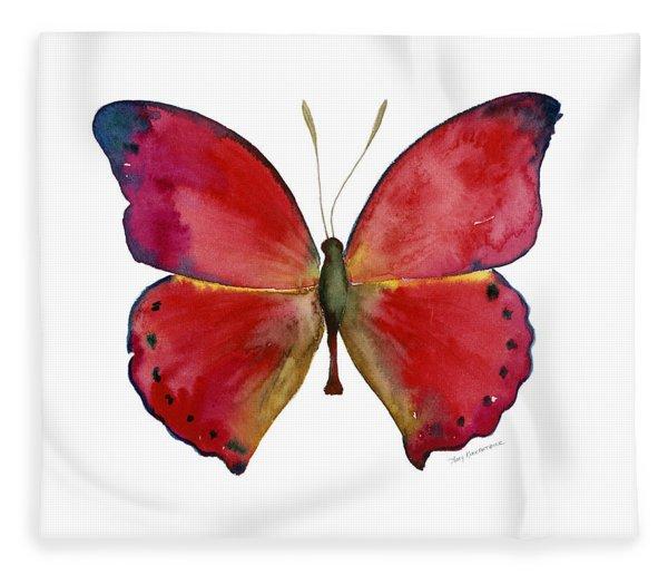 83 Red Glider Butterfly Fleece Blanket