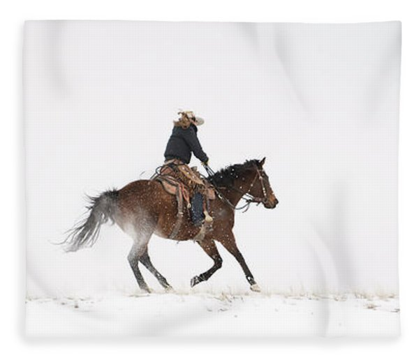A Chilly Ride Fleece Blanket