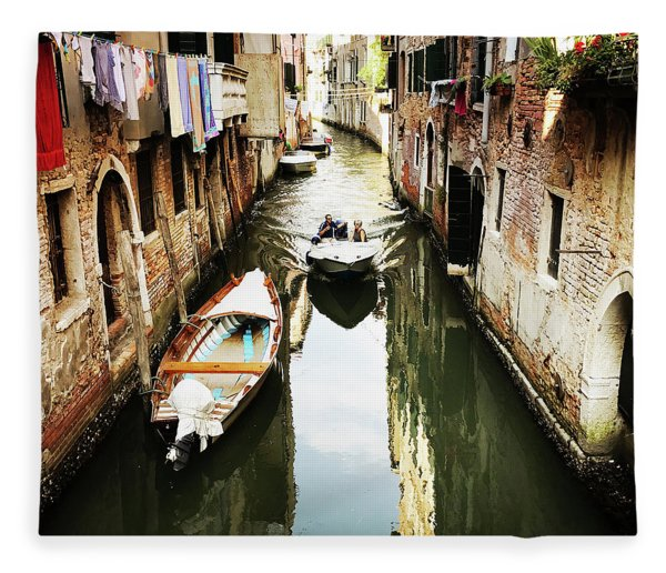 A Corner In Venice Fleece Blanket