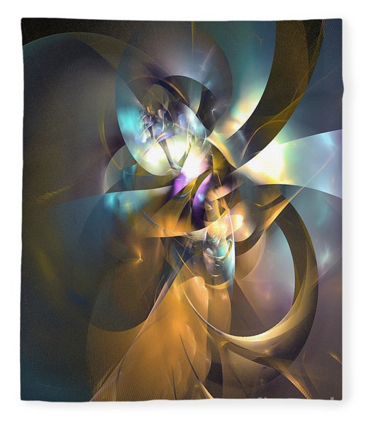 Fleece Blanket featuring the digital art A Distant Melody by Sipo Liimatainen