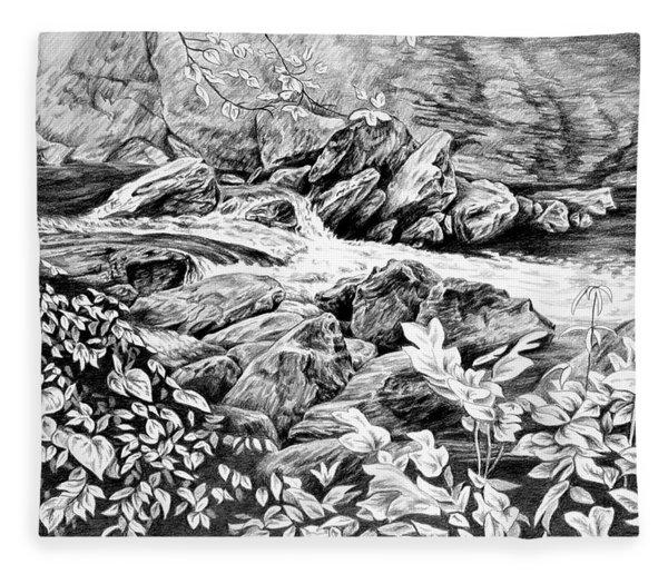 A Hiker's View - Landscape Print Fleece Blanket