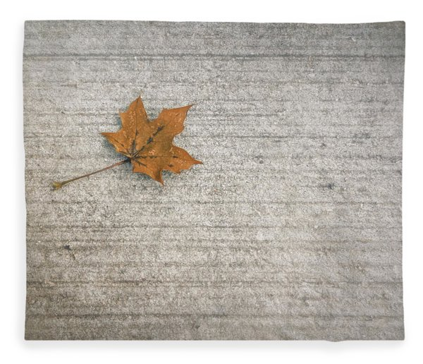 A Hint Of Autumn Fleece Blanket