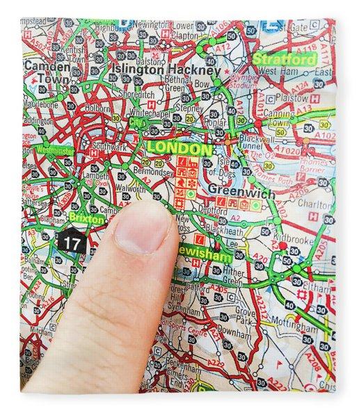 A Map Of London Fleece Blanket