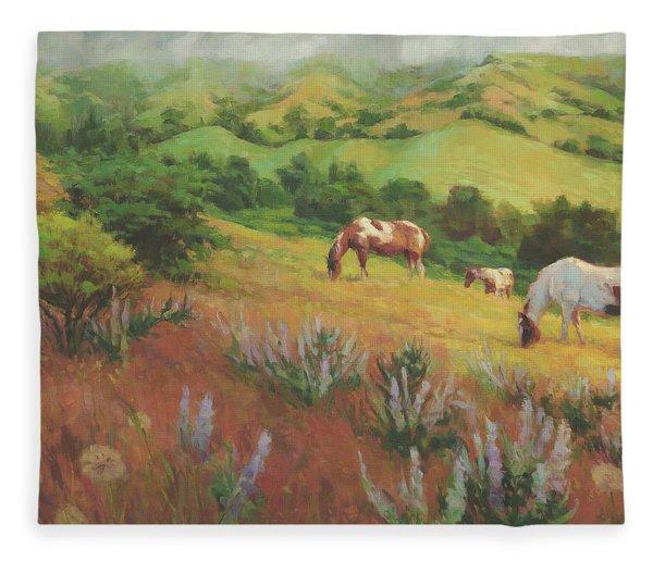 A Peaceful Nibble Fleece Blanket