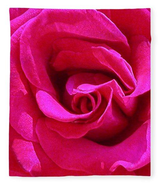 A Rose Is A Rose Is A Rose Fleece Blanket