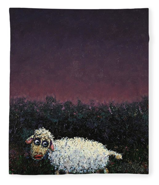 A Sheep In The Dark Fleece Blanket