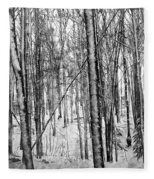 A Tree's View In Winter Fleece Blanket