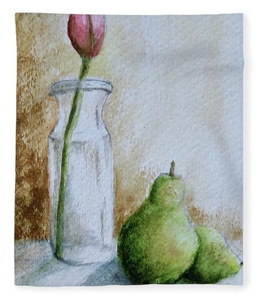 A Tulip And Two Pears Fleece Blanket
