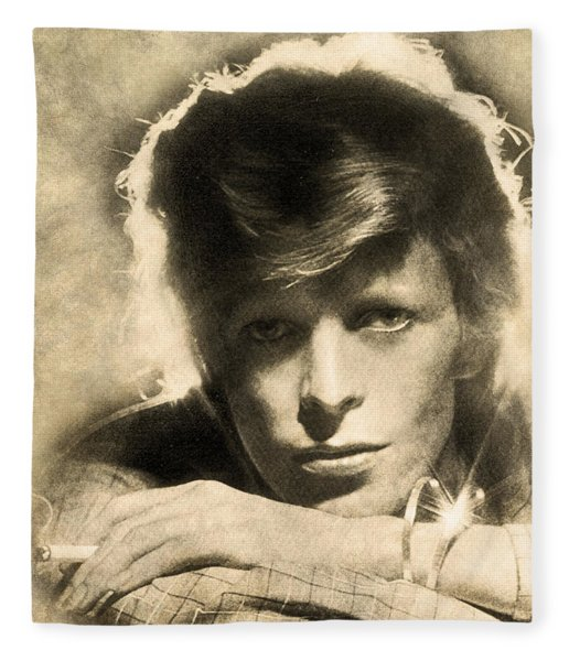 A Young David Bowie Fleece Blanket