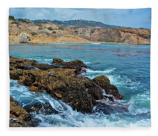 Abalone Cove Shoreline Park Sacred Cove Fleece Blanket
