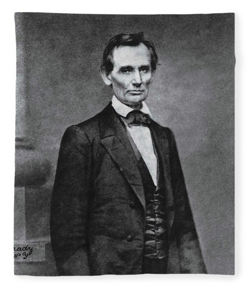Abraham Lincoln- Mathew Brady - 1860 Fleece Blanket