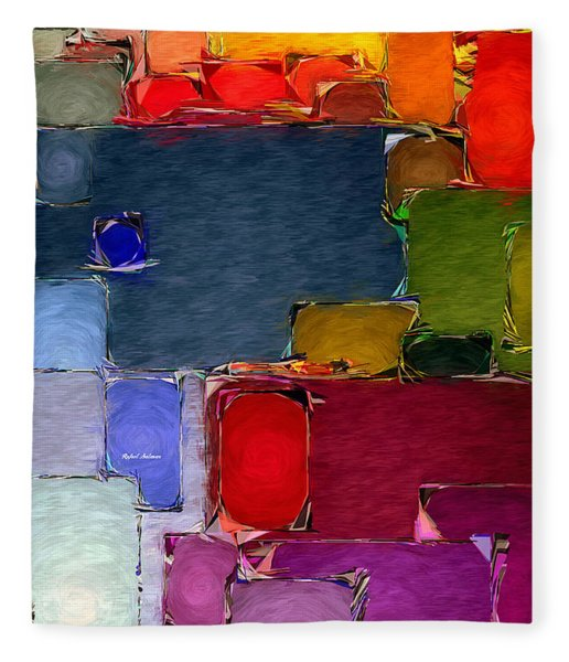 Abstract 005 Fleece Blanket