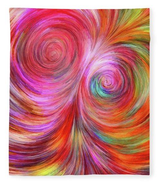 Fleece Blanket featuring the digital art Abstract 072817 by Matt Lindley