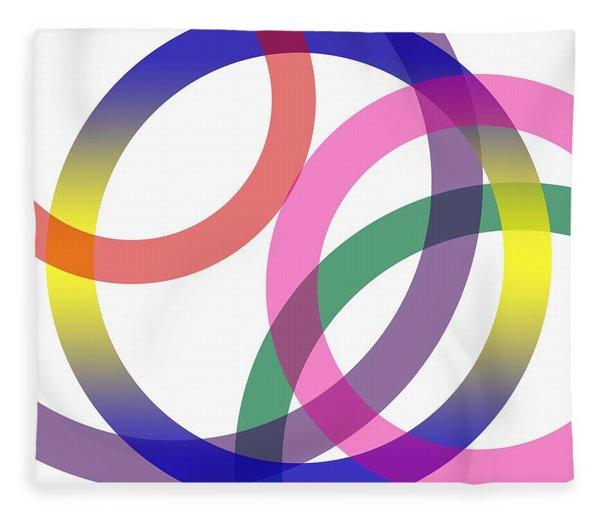 Abstract Circles No 2 Fleece Blanket