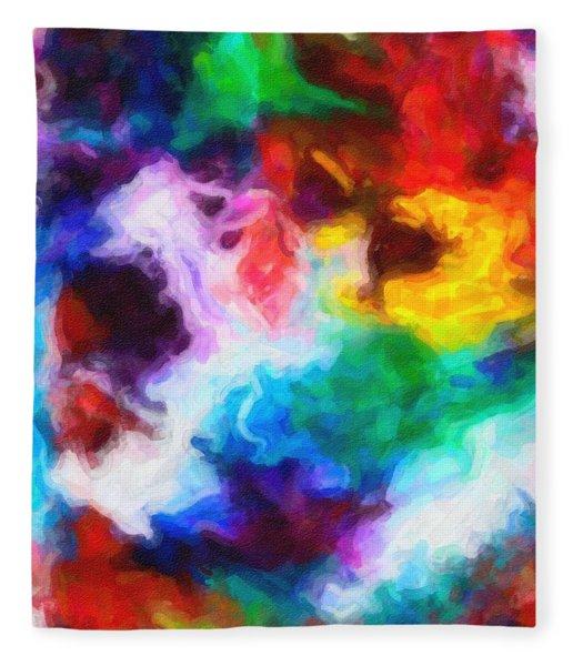 Abstract Colors  In Watercolors  3 Fleece Blanket